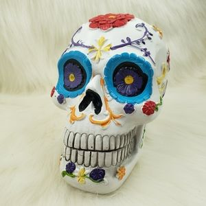 Day of the death sugar skull halloween decoration.